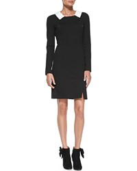 Rena Lange Long Sleeve Signature Dress With Zip Detail Women's