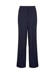 Whistles Drew Wide Leg Trousers Navy