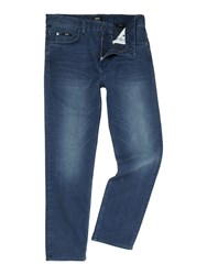 Hugo Boss Alabama Loose Comfort Fit Mid Wash Jeans Blue
