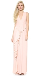 Thakoon Ruffle Front Gown Blush