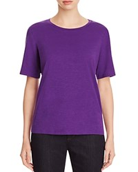 Eileen Fisher Organic Cotton Heathered Tee Ultraviolet