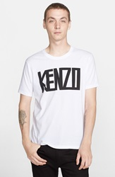 Kenzo 'Letter Blur' Graphic T Shirt White