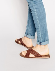 Dune Crossover Leather Sandals Tanleather