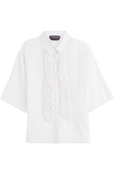 Rochas Silk Shirt With Ruffle