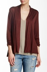 Hip Ray Slub Ruched Cardigan Brown