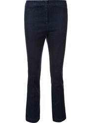 Ql2 Flared Cropped Jeans Blue
