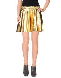 Odi Et Amo Skirts Mini Skirts Women Gold