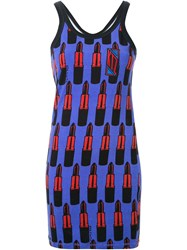 Ktz Lipstick Print Tank Dress Pink And Purple