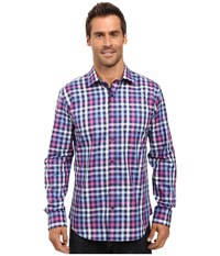 Bugatchi Alanzo Long Sleeve Woven Shirt Orchid Men's Long Sleeve Button Up Purple