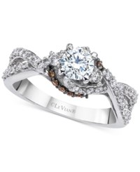 Le Vian Bridal Twisted Diamond Engagement Ring 1 Ct. T.W. In 14K White Gold