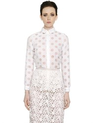 Burberry Polka Dot Cotton Blend Devore Shirt