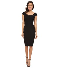 Stop Staring Straight Dress With Lace Detail At Top Black Women's Dress