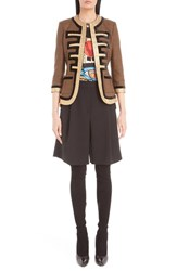 Givenchy Women's Prince Of Wales Check Fitted Wool Military Jacket