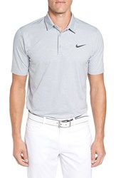 Nike Men's 'Mobility Emboss' Golf Pique Polo Wolf Grey Anthracite