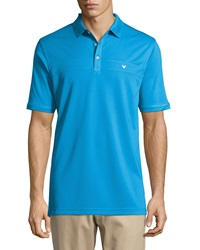 Callaway Industrial Solid Polo Shirt Blue Aster
