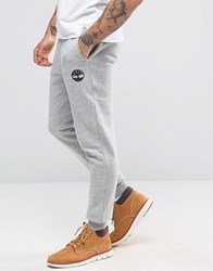 Timberland Slim Logo Cuffed Sweatpants In Grey Mediumg Grey
