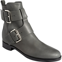 Pierre Hardy Double Buckle Motorcycle Boots Gray