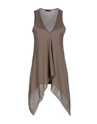Hack Tube Tops Light Brown