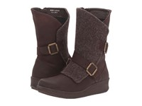 Born Kore Polo Brown Cafe Felt Combo Women's Boots