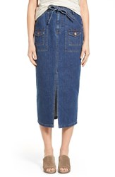 Women's Madewell 'Timeline' Denim Midi Skirt