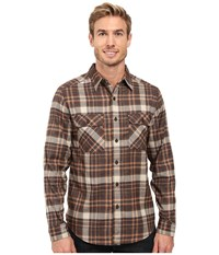 Royal Robbins Performance Flannel Plaid Long Sleeve Shirt Desert Palm Men's Long Sleeve Button Up Beige