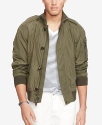Polo Ralph Lauren Mock Neck Bomber Jacket Expedition Green