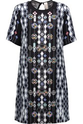 Peter Pilotto Check Printed Silk Crepe Dress Multi