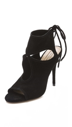 Aquazzura Sexy Thing Cutout Booties Black