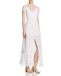 Band Of Gypsies Boho Peasant Maxi Dress White