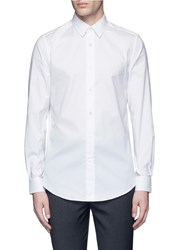 Ports 1961 Spread Collar Cotton Poplin Shirt White
