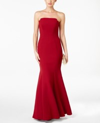 Jill Stuart Strapless Mermaid Gown Currant
