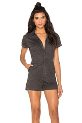 Rvca Zada Short Sleeve Romper Charcoal