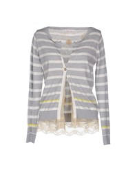 Jeordie's Knitwear Cardigans Women Light Grey