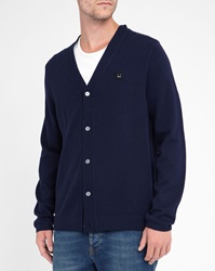 Acne Studios Blue Wool Dasher Face Cardigan