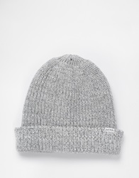 Jack Wills Haughton Rib Beanie Hat Grey