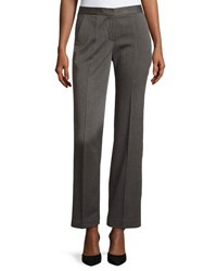 T Tahari Prima Herringbone Straight Leg Pants Gray Black