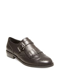 Design Lab Lord And Taylor Ice Wingtip Toe Leather Shoes Black