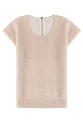 Burberry London Top With Mohair Cashmere And Wool Rose