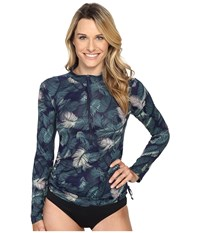 Carve Designs Cruz Rash Guard Anchor Palm Beach Women's Swimwear Blue