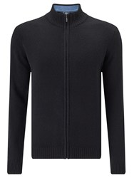 John Lewis Made In Italy Merino Cashmere Zip Neck Jumper Black