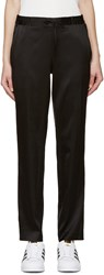 6397 Black Silk Charmeuse Lounge Pants