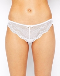 Gossard Superboost Lace Thong White