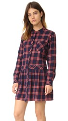 Current Elliott The School Girl Dress Ranch Plaid