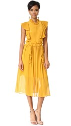 Marissa Webb Florence Silk Dress Marigold