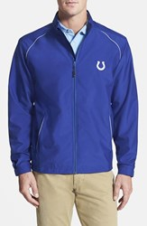 Men's Big And Tall Cutter And Buck 'Indianapolis Colts Beacon' Weathertec Wind And Water Resistant Jacket