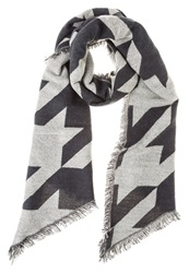 Evenandodd Scarf Grey Black