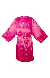 Women's Cathy's Concepts Satin Robe Fuschia B