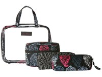 Vera Bradley Four Piece Cosmetic Organizer Northern Lights Cosmetic Case White