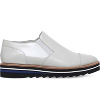 Vince Alona Patent Leather Oxford Shoes Winter Wht
