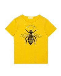 Gucci Short Sleeve Bee Jersey Tee Yellow Size 6 12 Size 6
